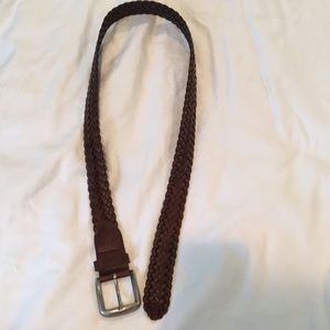 Women's Leather Cable Belt